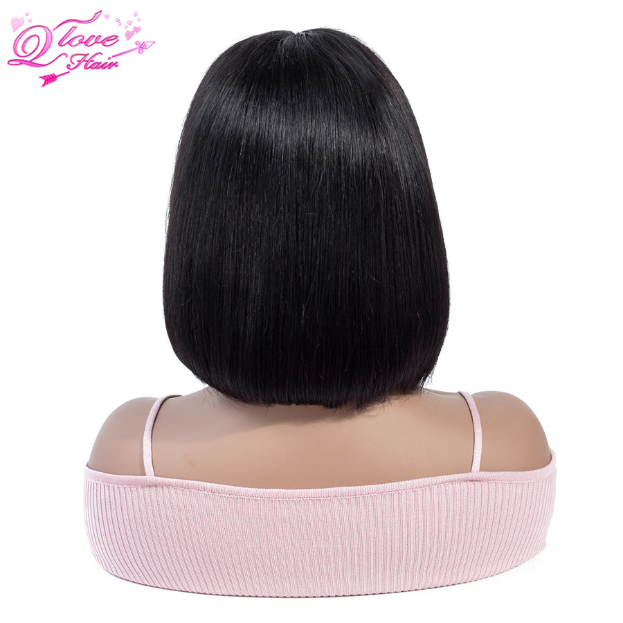 Queen Love Hair 13x4 Short Bob Wigs Indian Remy Human Hair Lace Front Human Hair Wigs