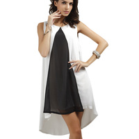 Large Size Solid Color Sleeveless Round Neck Summer Dress Wear To Work And Party Womens Dress