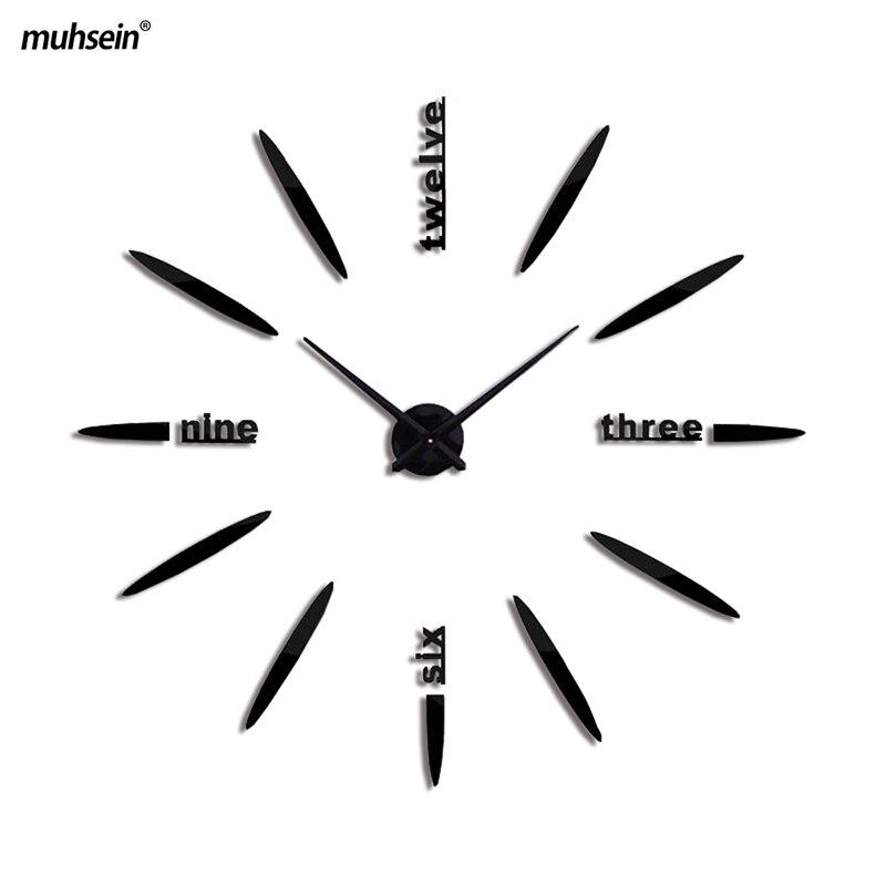 2018 Nouvelle Arrivée Horloges À Quartz De Mode Montres 3d Grand Mur Horloge Transporté D'urgence Miroir Autocollant Diy Salon Décor Livraison Gratuite