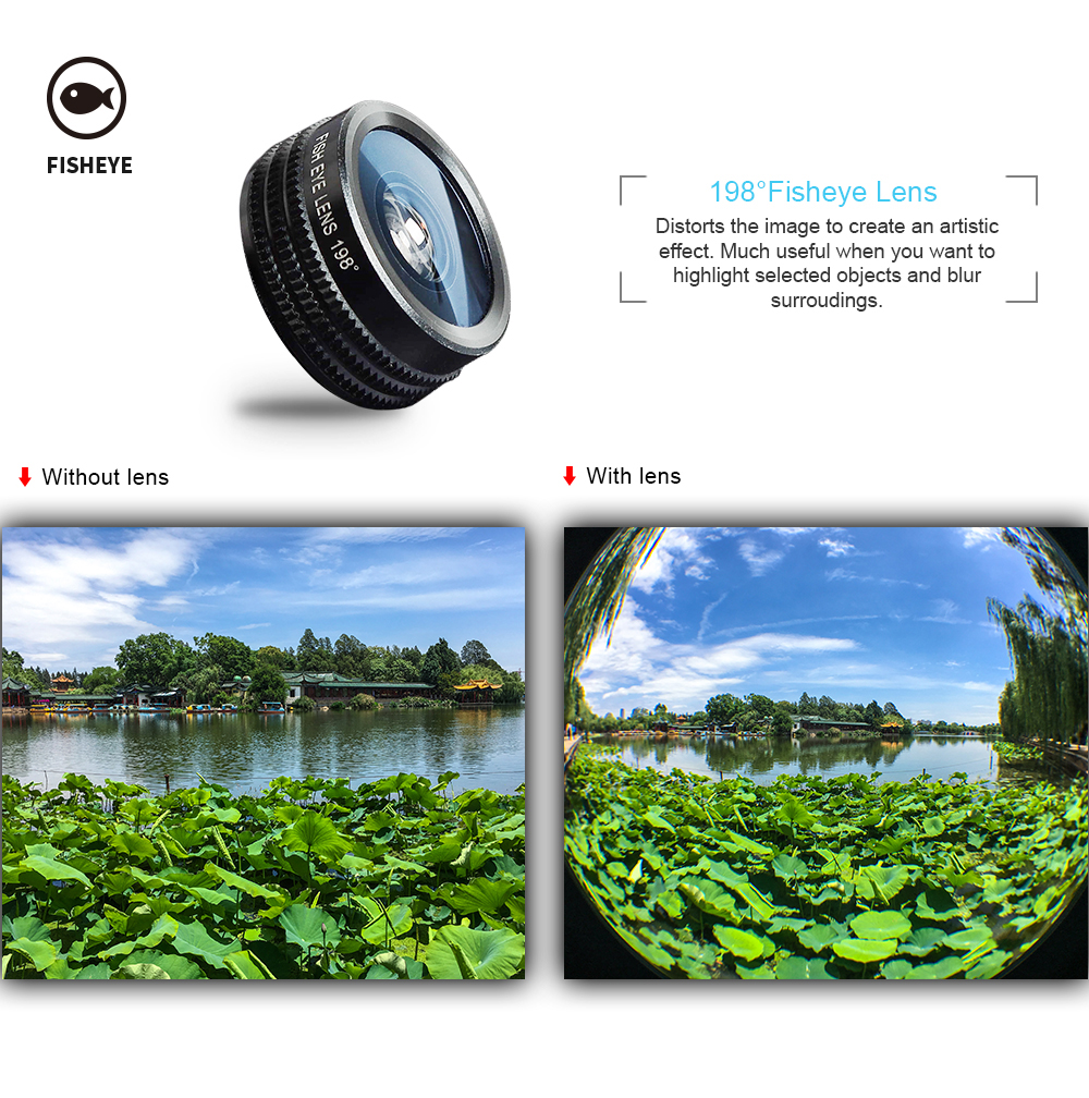 APEXEL 7 in 1 Phone Camera Lens Kit Fish Eye Wide Angle/macro Lens CPL Kaleidoscope and 2X telephoto zoom Lens for iPhone5/6s/7 5