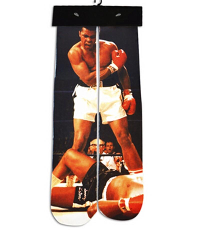 1 pairs Mens funny 3d character printed casual long socks cotton socks women harajuku street fashion casual Straight socks