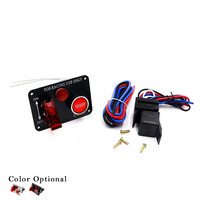 12V Ignition Switch Panel Racing Switch MP 3011 Carbon Fiber Ignition Toggle Switch Engine Start Push