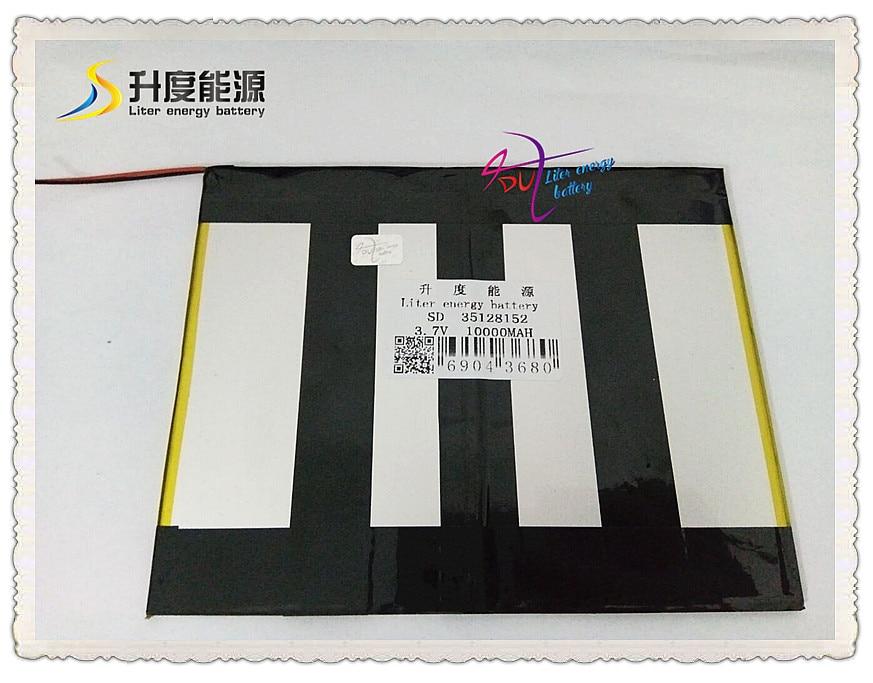 3.7V 10000mAh 35128152 Polymer lithium ion / Li-ion battery for tablet pc,POWER BANK,,cell phone original romoss polymos 10 air 10000mah dual usb li polymer power bank