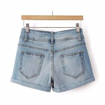 Thin Beaded High Waist Shorts 3