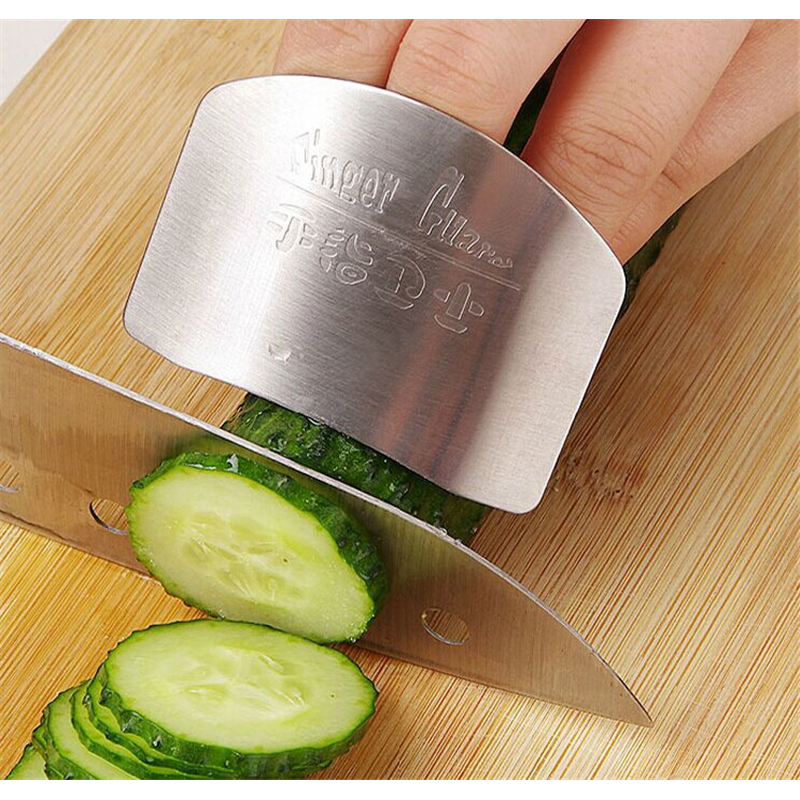 Creative Kitchen Tool Stainless Steel Finger Hand Protector Guard Protect Finger Hand Safe Slice Shield