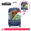 Dispalang Denim pocket Printed Luggage Protective Covers Elastic Durable Dustproof Suitcase Cover For 18-30 inch Trunk Case
