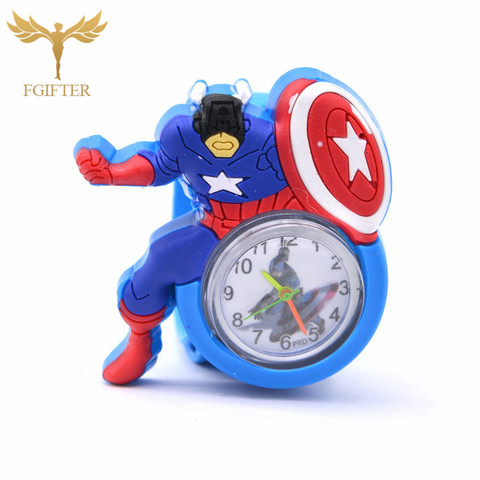 Kid Watches Captain America Cartoon Boys Watches Quartz Superman Avengers Anime Child Clocks Children Boy Gifts Lahore