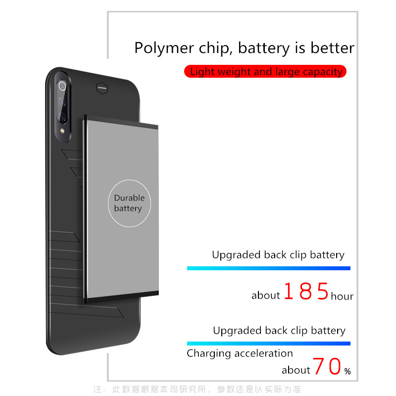 6800mAh External Power Bank Case For Xiaomi Mi 9 Portable Battery Power Charger Cover Extended Phone Battery Power Case in Battery Charger Cases from Cellphones Telecommunications