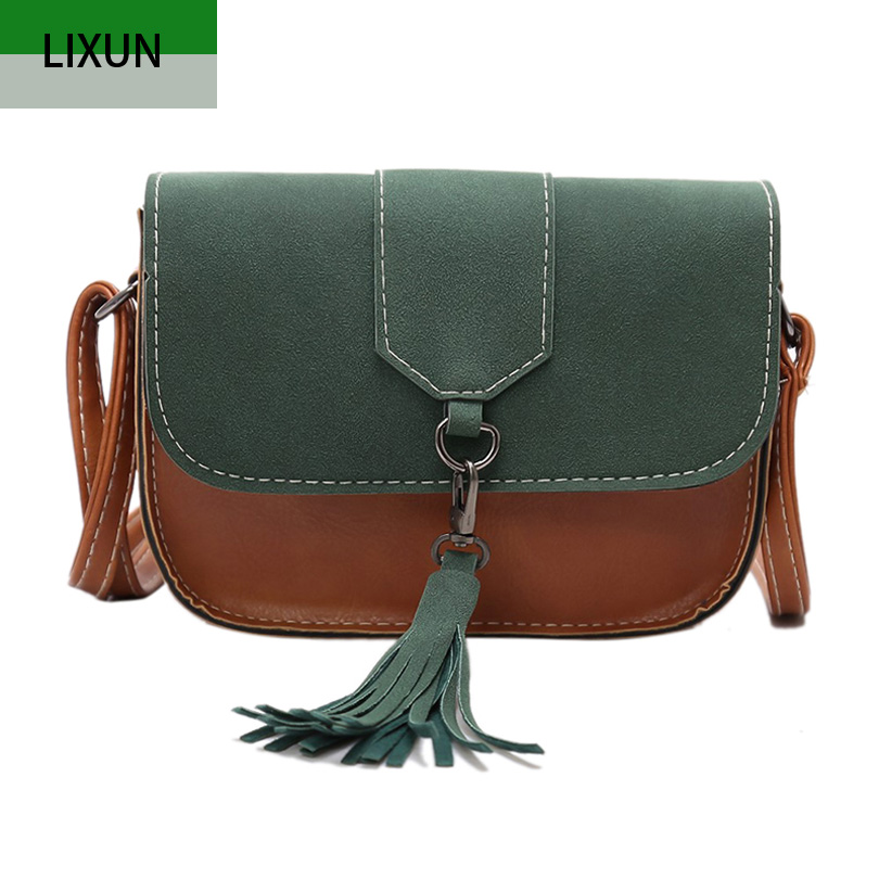 Women Nubuck Leather Messenger Bags Designer Handbags Retro Shoulder Bag Girls Tassel Small Cross Body Bags Ladies Fashion Bolsa designer women handbags black bucket shoulder bags pu leather ladies cross body bags shopping bag bolsa feminina women s totes