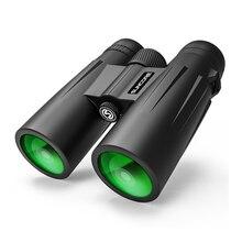 12x42 Binoculars  HD High Power Bak-7 Prism Multi-layer Green Coating Portable Telescope Outdoor Hiking Camping