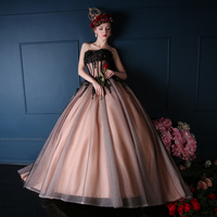 2019 Fashion Tube Top Banquet Evening Dress Long Applique Lace Tulle Ball Gowns Prom Dresses Evening Gown Costume Casamento