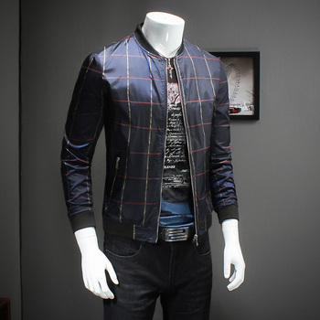 Designer Check Pattern 2018 Mens Bomber Jacket Chaqueta Hombre Casual Business Casual Plus Size 5xl Pattern Check Jacket