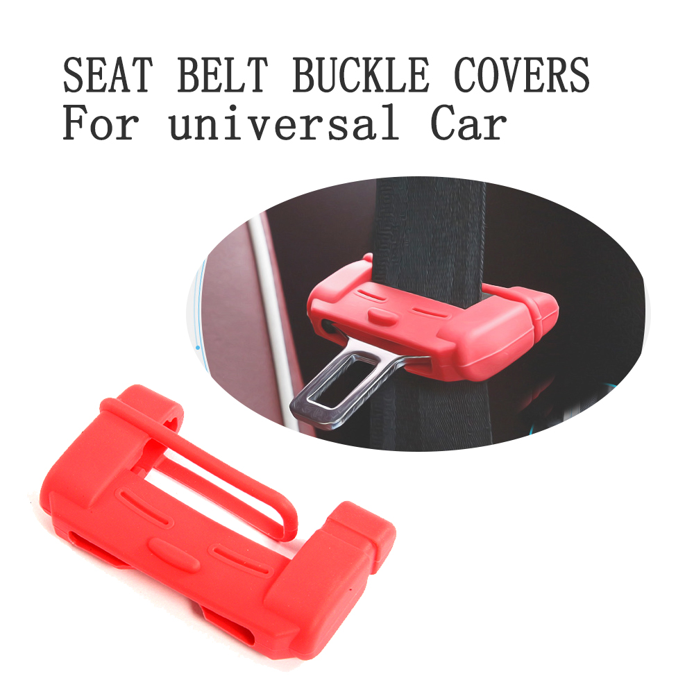 Protective  Case Car Seat Belt Buckle Covers Socket Protector Dust Prevention