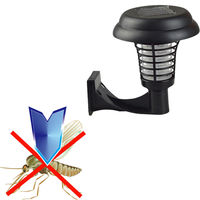 2016 High Quality UV LED Solar Powered Outdoor Mosquito Insect Pest Bug Zapper Killer E5M1