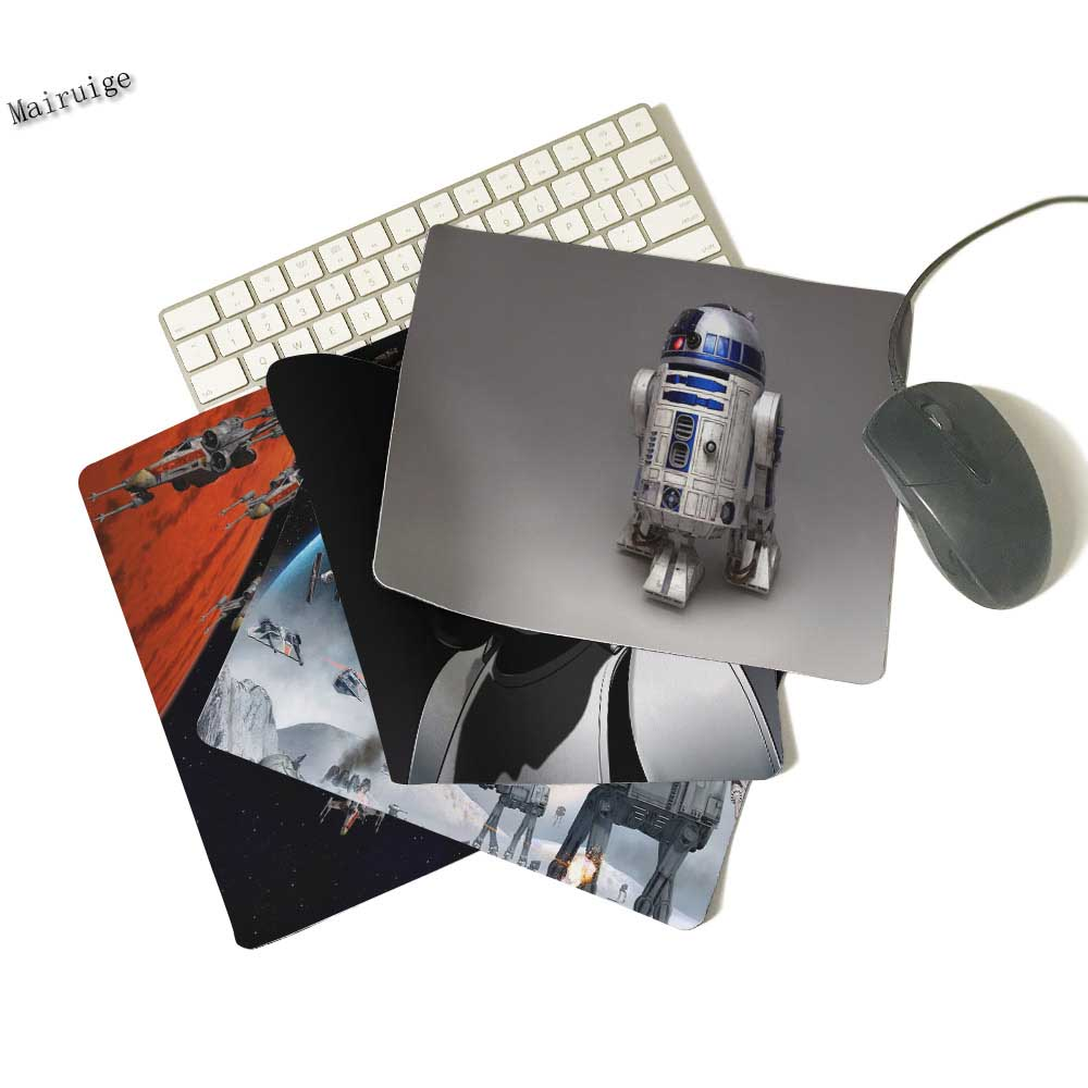 Mairuig  Mouse Pad Print Star Wars R2D2 Robot Estilo Durable Rubber Anti Slip Mat Oft MICE Ga 18 * 22 * 25 Cm And 29 Cm Pad