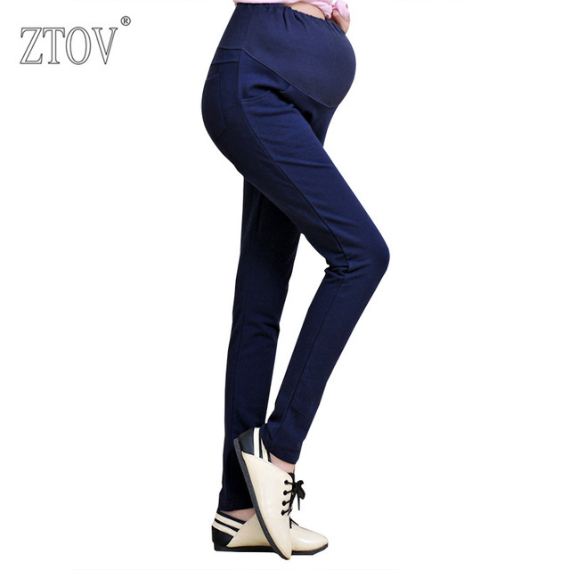 ZTOV Spring Casual Maternity Pants Cotton Pregnancy Clothes for Pregnant Women Overalls Trousers Belly Pants Maternity Clothing