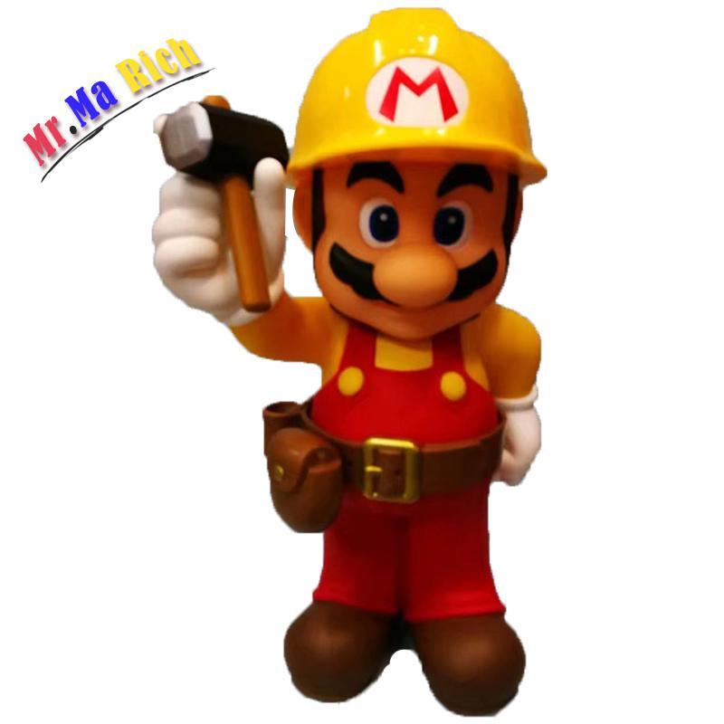Super Mario Figura 30th anniversaire Mario Riparatore figurine Pvc jouet poupée Brinquedos 30 cm