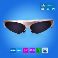 Free Shipping New Arrival 1080P Portable 98 Virtual Personal Cinema Theater Stereo MP3 AV VGA In