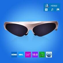 Бесплатная Доставка! Новинка 98 дюймов 3D виртуальной реальности широкий Экран цифровой Видеоочки очки Поддержка подключения IOS и Android FPV-системы