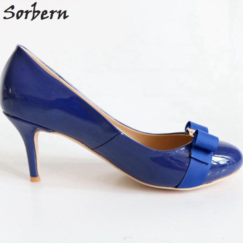Formales Sorbern 11 Mujeres Redondo De Plus Ladys Tacones Azul multiple Dedo Mujeres Ol Pie Zapatos Del Las Tamaño Para Azul Clásicos Z7xqzwrZ
