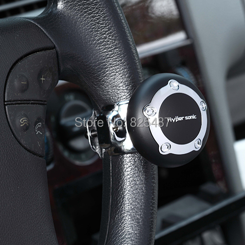 Black Steering Knob Wheel Power Handle Spinners Car accessory for Safe Easy Turn Wheel Knob