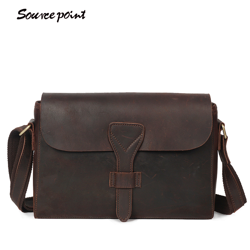 YISHEN Vintage Fashion Mens Crossbody Bags Crazy Horse Genuine Leather Male Messenger Bags Versatile Casual Shoulder Bag YD-008YISHEN Vintage Fashion Mens Crossbody Bags Crazy Horse Genuine Leather Male Messenger Bags Versatile Casual Shoulder Bag YD-008