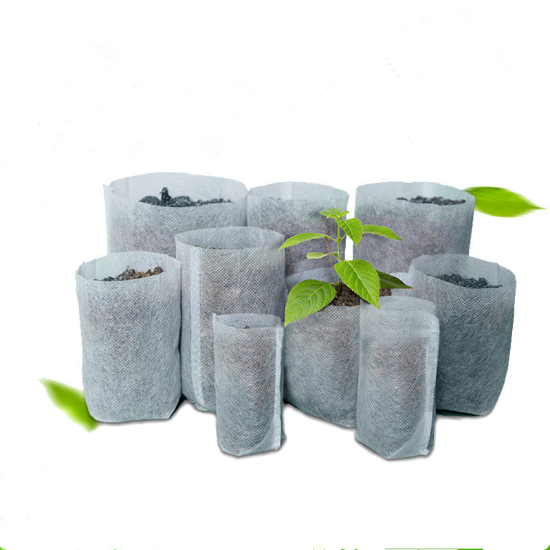 100pcs Non-woven fabric Bags Nursery Pots Seedling-Raising Bags fabrics Garden Nursery bags Supplies
