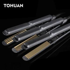 Image 1 - Professional Electronic Hair Straighteners Tools Straightening Corrugated Iron 110 220 V Corrugation Crimping Chapinha Flat Iron