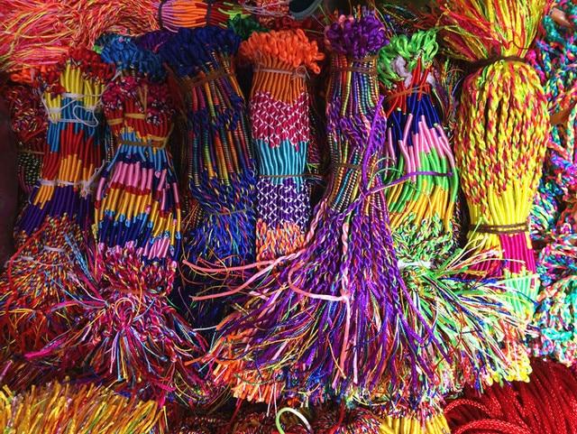 1 pz colore della miscela di invio popolare colorato braccialetto di corda mano