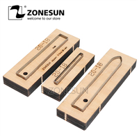 ZONESUN 20 18 Customized leather cutting die Leather DIY Craft supply watchband strap Wooden Template punch cut steel rule die