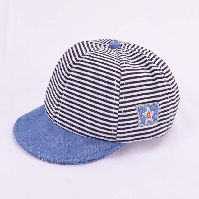 Boy's Casual Striped Soft Baseball Cap 2