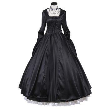 Black Medieval Dress Princess Southern Belle Costume Ball Gown Gothic Lolita Dress Adult Women Party Evening Dress Custom Made
