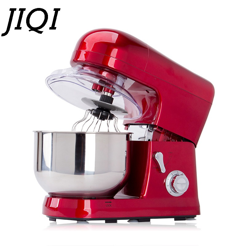JIQI 5L Electric food mixer Automatic Eggs Beater Milkshake Cake Dough Maker Stand Mixers Chef Blender Machine 110V 220V new multi functional dough mixing machine electric dough mixer small automatic food mixers egg beater commercial chef machine