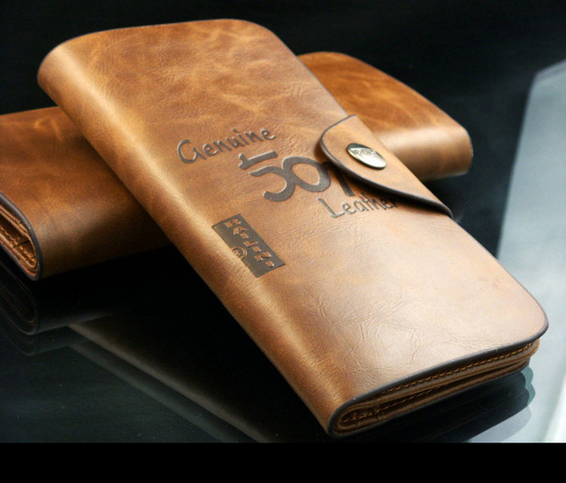 Free shipping male genuine leather wallet long design cowhide wallet Pockets Card Clutch Cente Bifold Purse