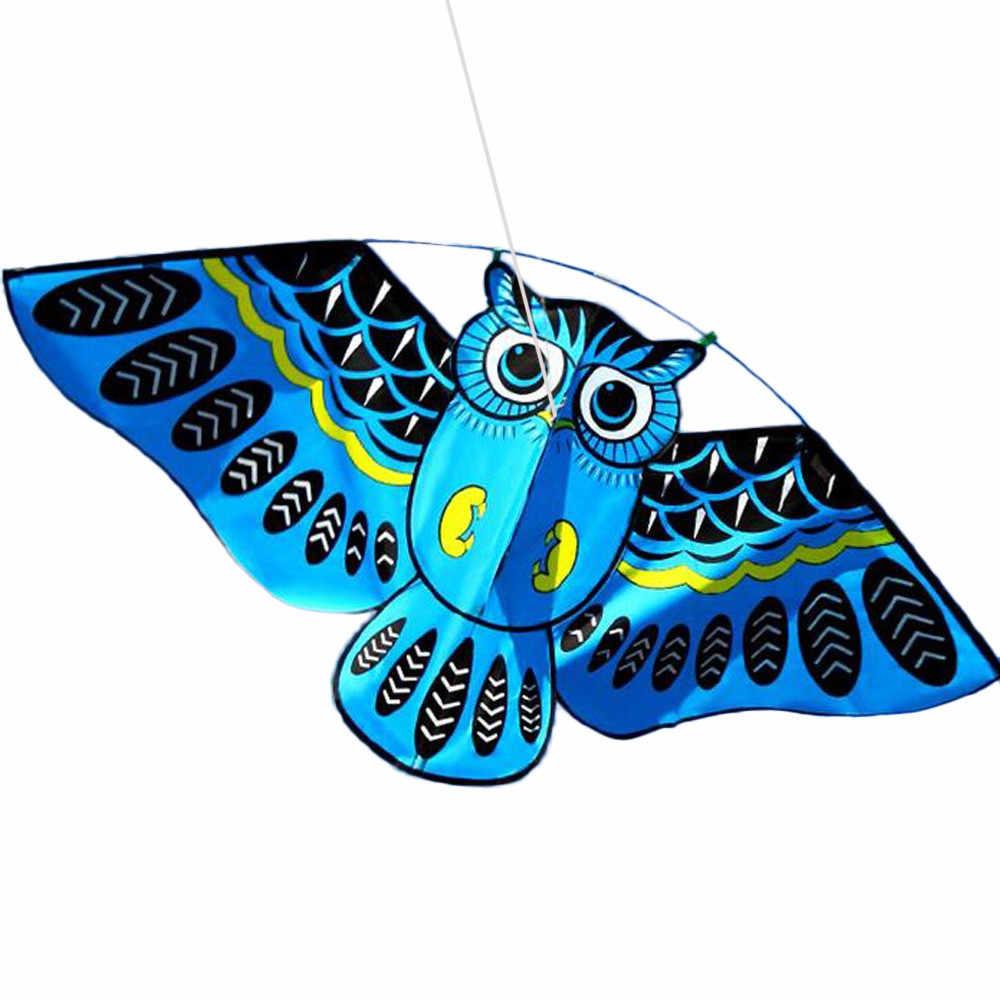 ثلاثية الأبعاد البومة طائرة ورقية لعبة متعة في الهواء الطلق تحلق النشاط لعبة الأطفال مع الذيل لعبة كلاسيكية تطوير المهارات الاجتماعية