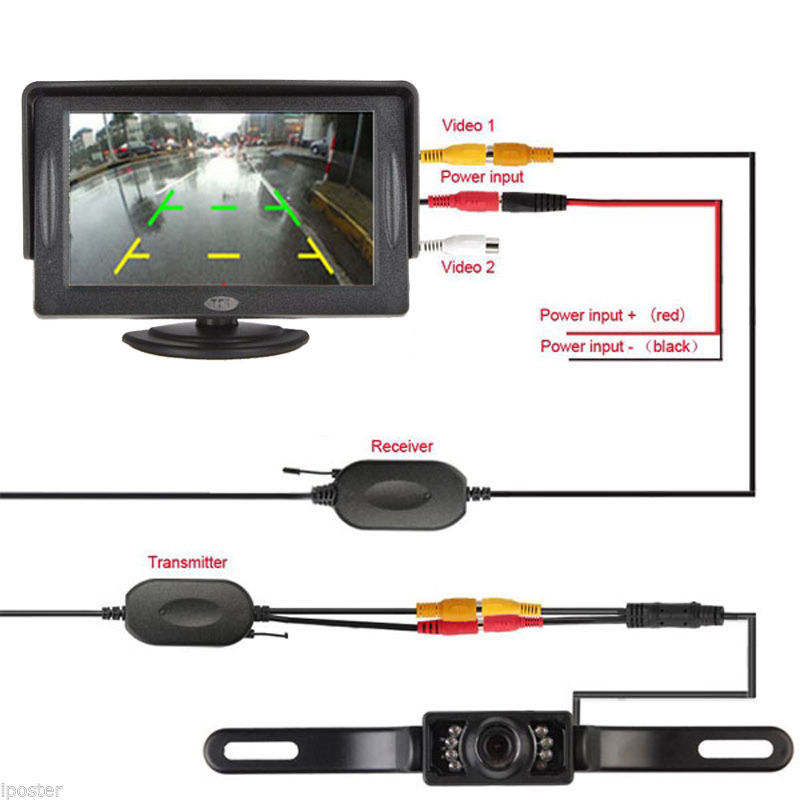 Image 4 - TFT LCD Monitor Parking Camera 7 Night Vision LED Rearview Mirror Car DVR Professional Waterproof Auto Car Dash Parking Camera-in DVR/Dash Camera from Automobiles & Motorcycles