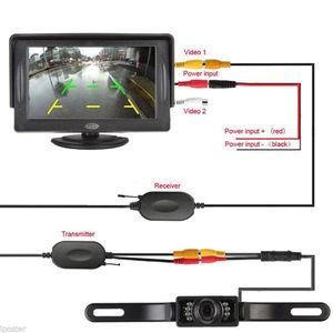 Image 4 - TFT LCD Monitor Parking Camera 7 Night Vision LED Rearview Mirror Car DVR Professional Waterproof Auto Car Dash Parking Camera