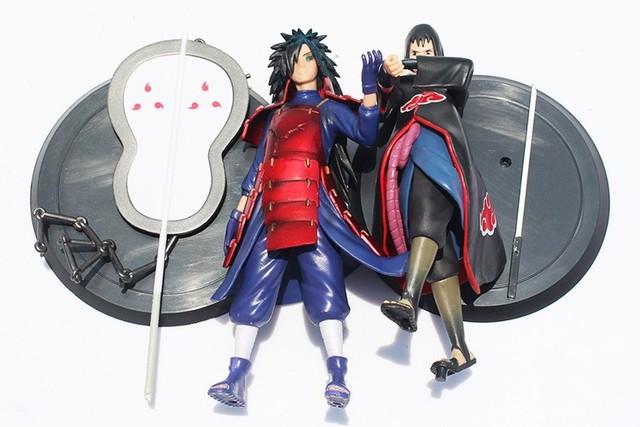 Anime Naruto Uchiha Madara Uchiha Sasuke 2pcs/set PVC Action Figures Model Toy