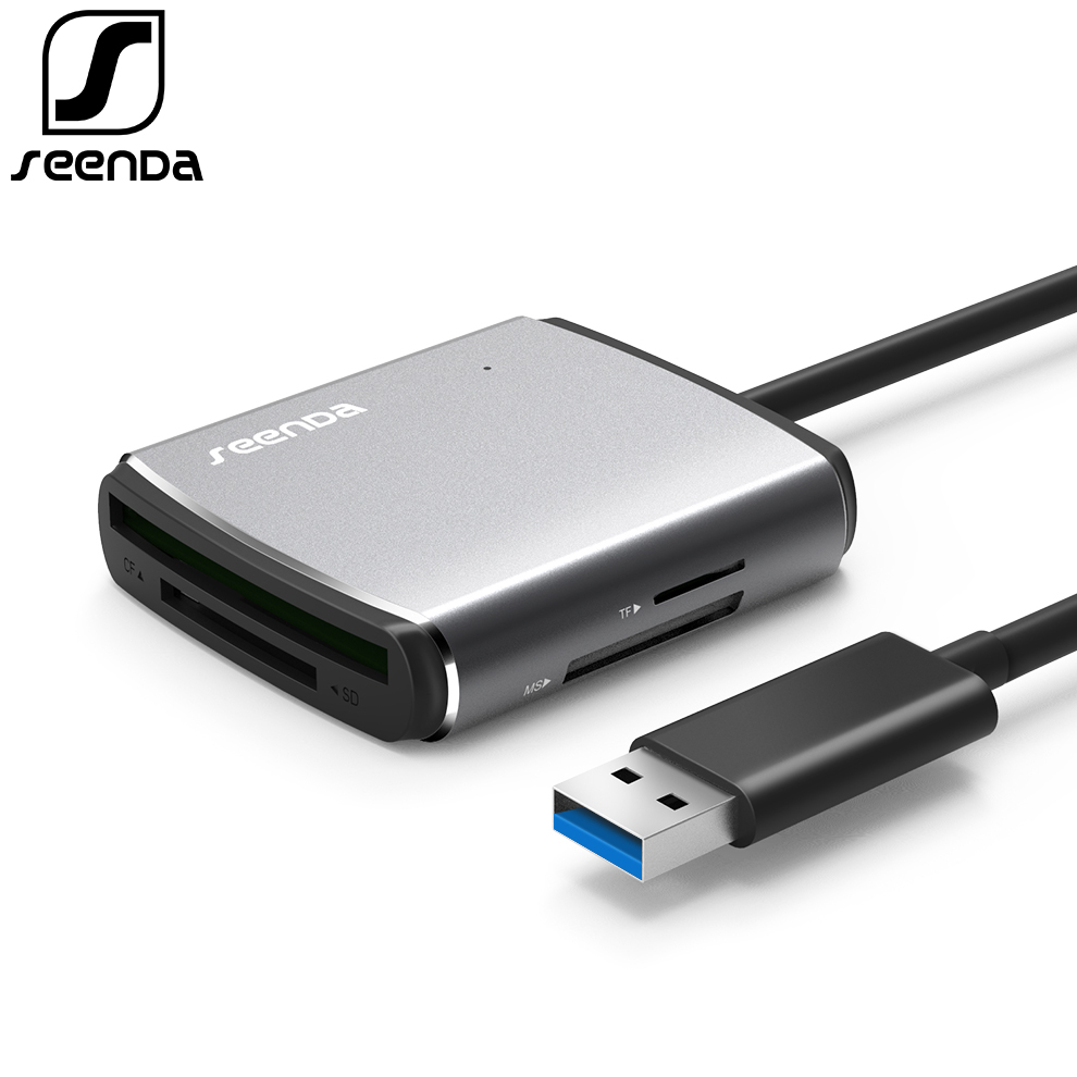 SeenDa USB3.0 Card Reader High-Speed Multi Camera Memory Card SD CF TF MS Mobile Phone OTG Card Reader For PC Laptop Card Reader vention usb 3 0 card reader sd cf ms xd micro sd tf card reader high speed multi external smart memory card reader for computer