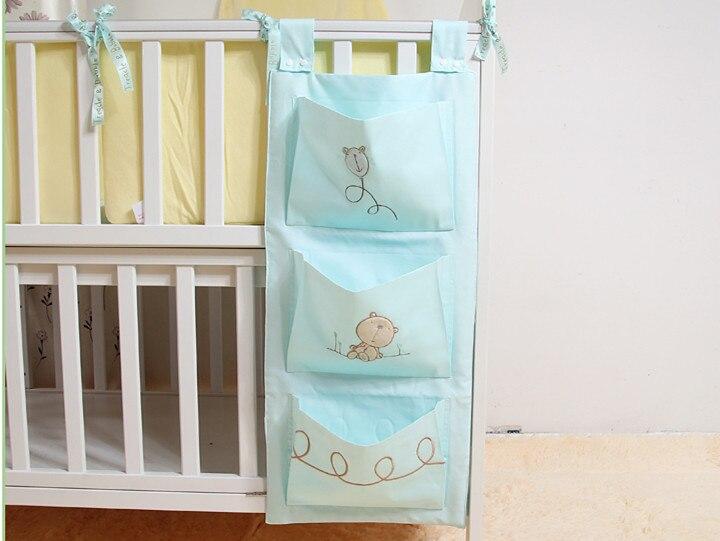 Детская кровать висит сумка для хранения хлопка новорожденных кроватки Организатор игрушка пеленки карман для кроватки Постельное белье И... ...