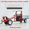 1:16 Aleación modelos de tractores, alta simulación motocultor, metal funde, despreocupado, vehículos de juguete de los niños, envío libre