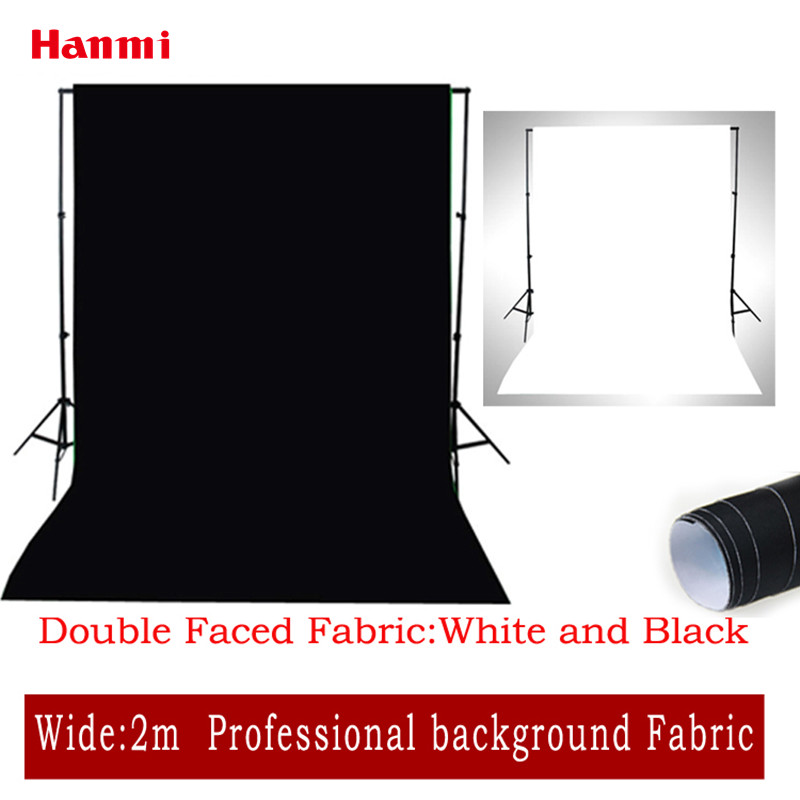 Hanmi 2M*3M Black and White Striped Backdrops Double Faced Cloth Photo Lighting Studio Chromakey Background Photography Backdrop shengyongbao 2m x 3m vinyl custom photography backdrops prop photography studio background mh15