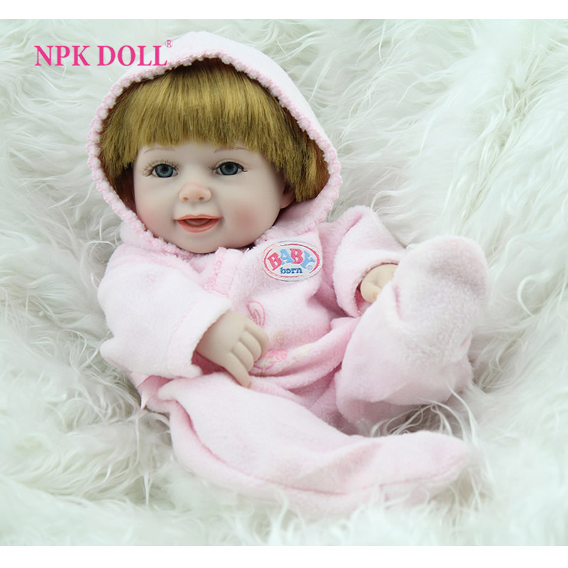 NPKDOLL Reborn Baby Doll Full Silicone Vinyl Body Girl Doll Mini 10 inches Fashion Kids Toys Hobbies clamp multimeter dt3266l lcd display digital multimeter handle ac voltage current resistance tester dt3266l multimeter tester