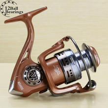 Baitcasting Fishing Reel Quality Lure 12 Ball Bearing Spinning carp Fishing Reel 5.5:1 Max Drag 22 lb Sea Boat Spinning Fishing