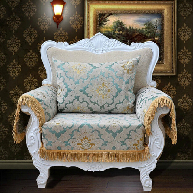 Customized Sofa Covers Chenille Flocked Jacquard Fabric Sectional Towel Universal Furniture Cover Backrest