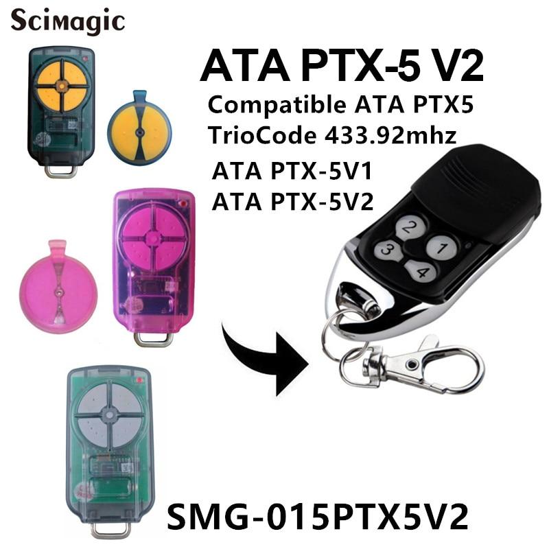 Ata Ptx5 V2 Triocode Garagentor Fernbedienung Ersatz Ata Ptx-5 Tor Control Sender 433,92 Mhz Zugangskontrolle