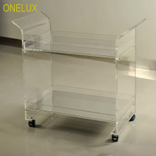 ONELUX Rolling Lucite Serving Bar Cart,A