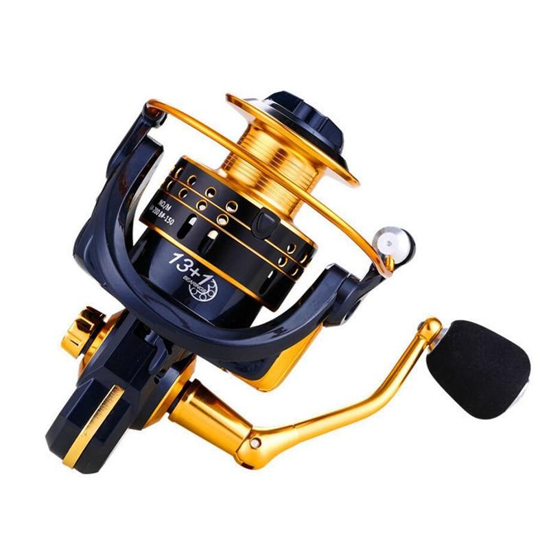 Spinning Fishing Reel 1000-7000 Series Metal Spool 6+1BB Carp Reel Freshwater