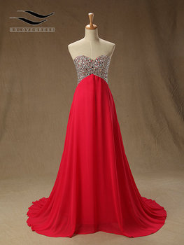 Solovedress Elegant Floor Length Real Photos Beaded A Line Sweetheart Evening Dress Pleat Evening Gown Vestidos De fiesta SLE002
