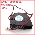 SANLY SF5015SL 12V 0.06A 50*50*15mm Ultra Quiet Humidifier Turbo Cooler Fan